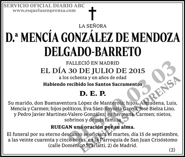 Mencía González de Mendoza Delgado-Barreto